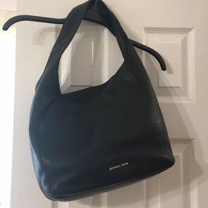 Michael Kors Lena black leather shoulder bag